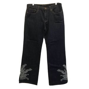 Pamela McCoy Embroidered Jeans Size 14